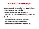 a what is an exchange