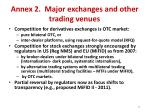 annex 2 major exchanges and other trading venues