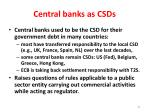 central banks as csds
