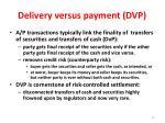 delivery versus payment dvp