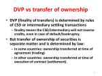 dvp vs transfer of ownership