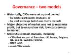 governance two models