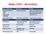 major ccps derivatives