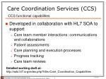 care coordination services ccs