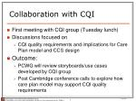 collaboration with cqi