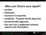 who can check your report