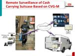 remote surveillance of cash carrying suitcase based on cvg m