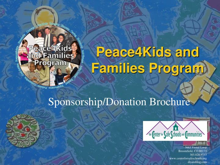 peace4kids and families program n.
