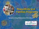 peace4kids and families program