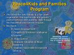 peace4kids and families program1