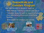 peace4kids and families program10