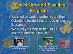 peace4kids and families program4