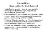 innovations good and bad for small business