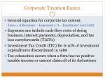 corporate taxation basics