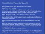 debt collection phone call example