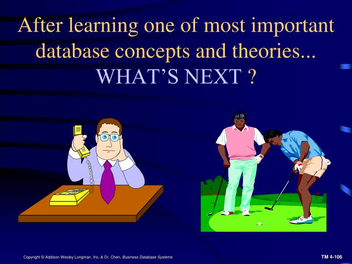 After learning one of most important database concepts and theories...