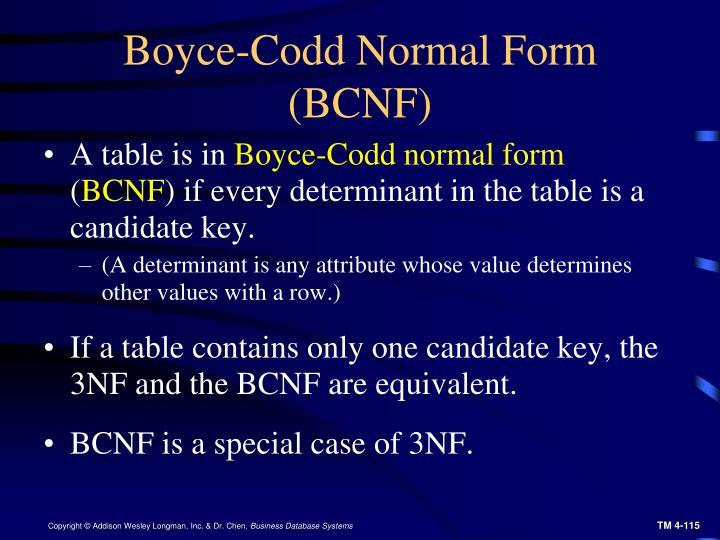 Boyce-Codd Normal Form (BCNF)