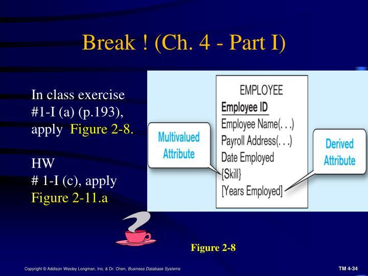 Break ! (Ch. 4 - Part I)