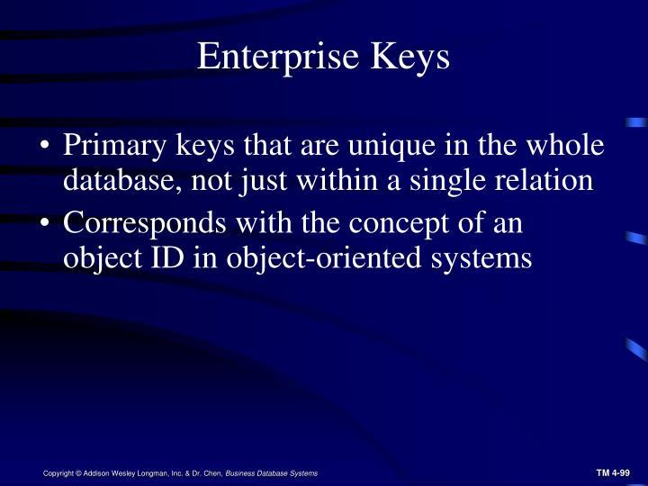 Enterprise Keys
