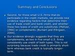 summary and conclusions1