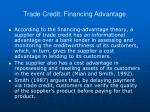trade credit financing advantage