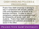 cash handling policies procedures