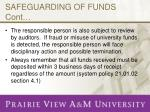 safeguarding of funds cont