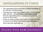 safeguarding of funds