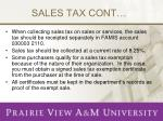 sales tax cont
