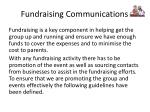 fundraising communications