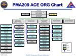 pma209 ace org chart