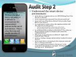 audit step 2