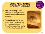 using alternative sources of funds