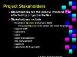 project stakeholders