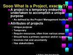 sooo what is a project exactly