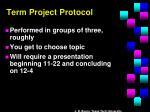 term project protocol