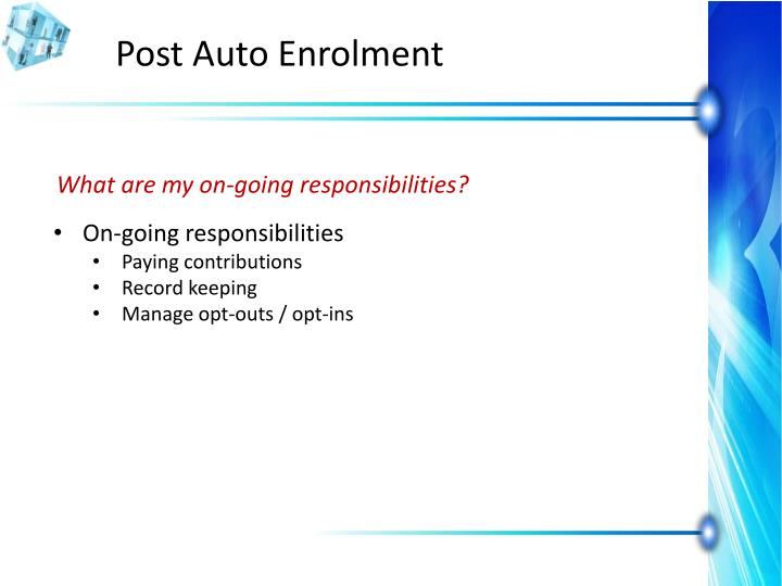 Post Auto Enrolment