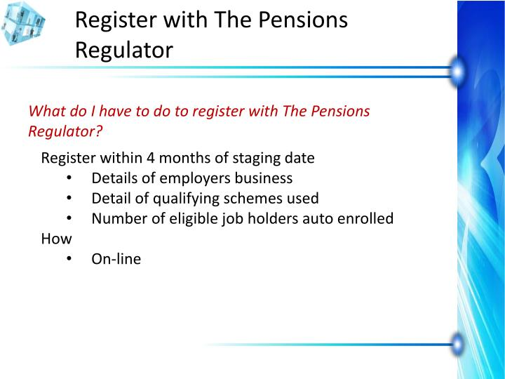 Register with The Pensions