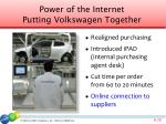 power of the internet putting volkswagen together