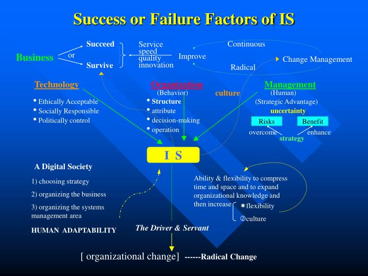 success or failure factors of is n.