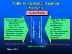 value to customer analysis mervyn s