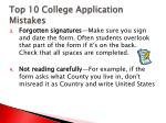 top 10 college application mistakes2