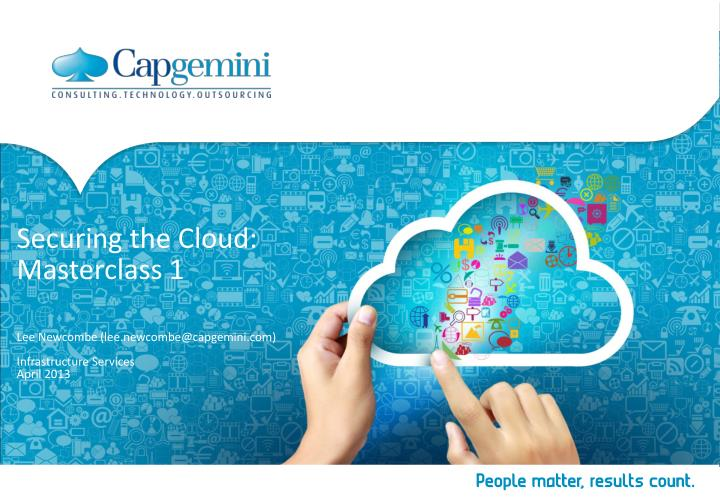 securing the cloud masterclass 1 n.