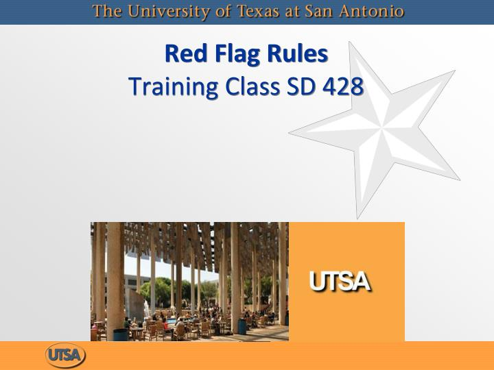 red flag rules training class sd 428 n.