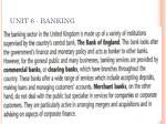 unit 6 banking