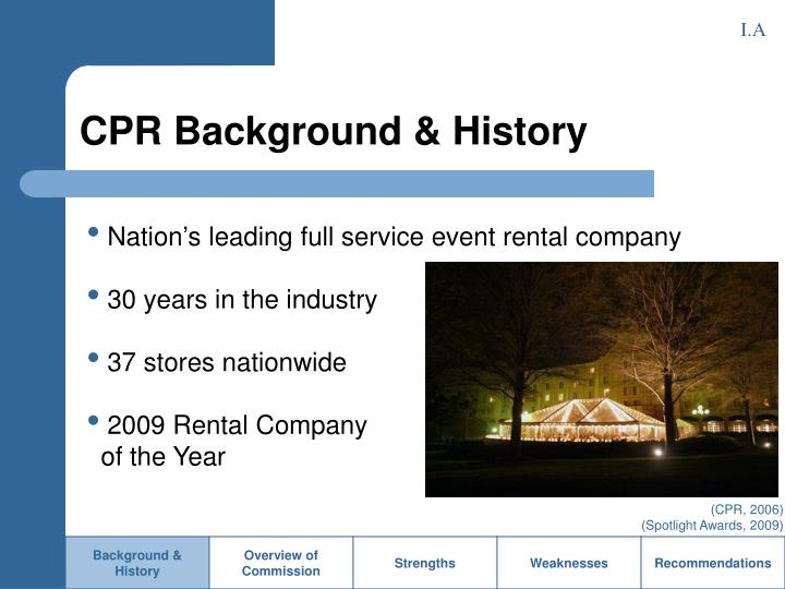 Cpr background history
