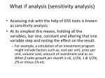 what if analysis sensitivity analysis
