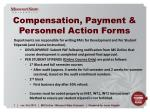 compensation payment personnel action forms1