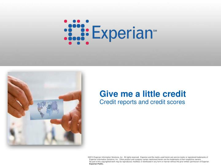 give me a little credit credit reports and credit scores n.