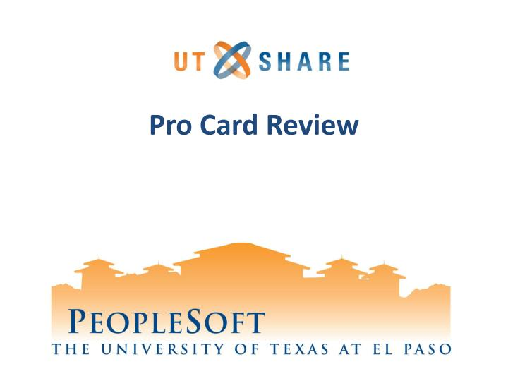 pro card review n.